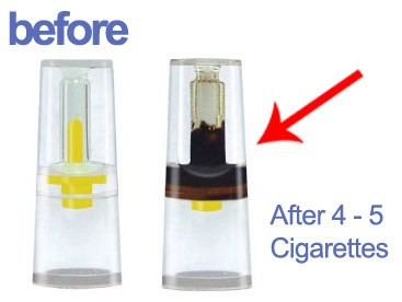 new and used cigarette filters