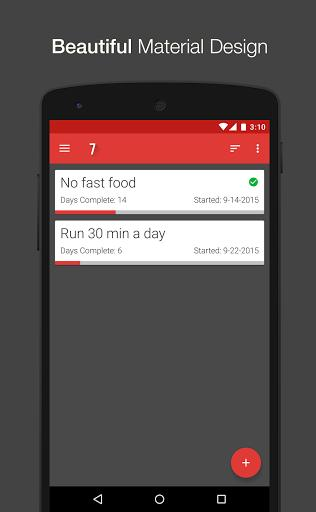 7 Weeks goal tracking app